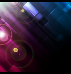 blue purple glowing abstract tech background vector image
