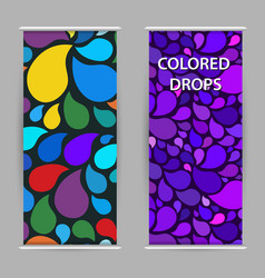 bright drops paint modern purple background vector image