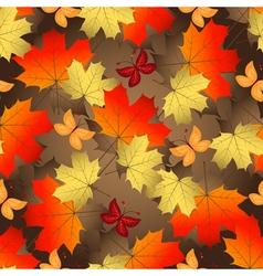 Brown gradient autumn seamless pattern vector