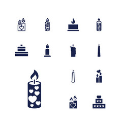 Candles icons vector