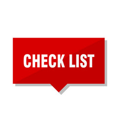 Check list red tag vector