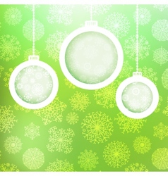 Christmas balls with snowflakes EPS8 vector