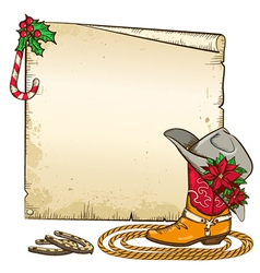 Christmas paper background with horseshoes and vector
