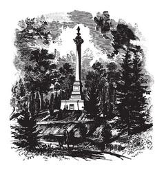 clays monument at lexington ky vintage vector image