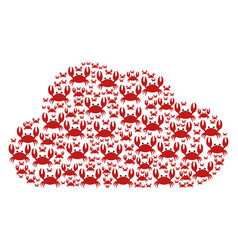 Cloud figure crab icons vector