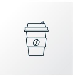 coffee icon line symbol premium quality isolated vector image