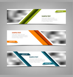 collection banners with abstract stripes and vector image