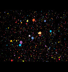 Colorful round confetti isolated on black vector