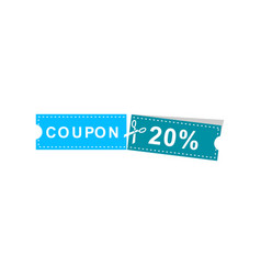 coupons discount banner 20 offers vector image