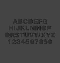 craft paper cut black shapes font paper art style vector image