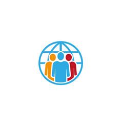 creative people circle logo vector image