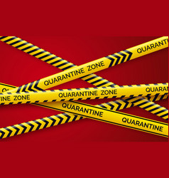 Danger tape quarantine warning tape fencing vector