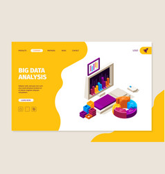 data analysis landing business concept with vector image
