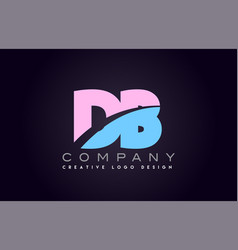 Db alphabet letter join joined letter logo design vector