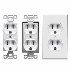 duplex electrical outlet vector image