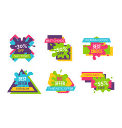 fantastic offer premium goods vector image