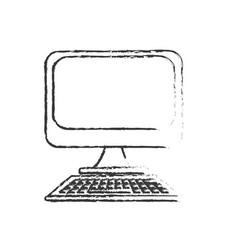 figure technology computer to business information vector image