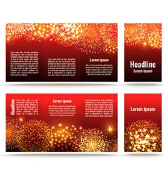 fireworks banner design vector image