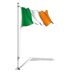 Flag Pole Ireland vector image