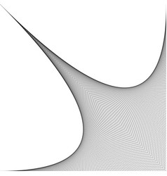 Geometrical curved monochrome design from line vector