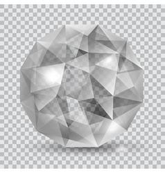 Gray translucent crystal vector
