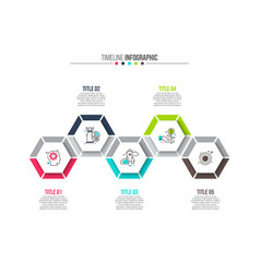 hexagons elements for infographic vector image