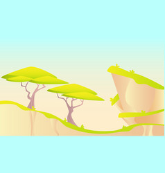 Hot african landscape vector