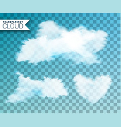 isolated cloud set on vector image