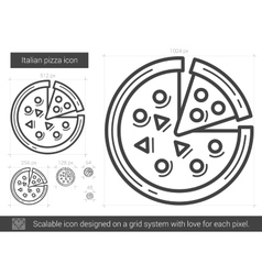 Italian pizza line icon vector image