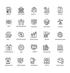 Line icon of business and finance vector