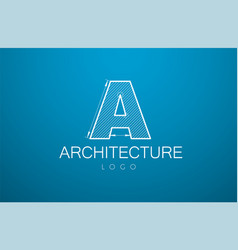 logo template letter a in style a vector image