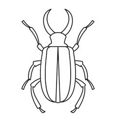 Lucanus cervus beetle icon outline style vector