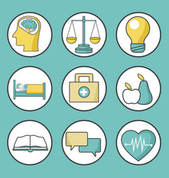 medical healthcare icons vector image