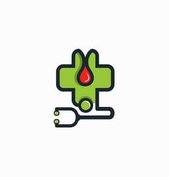 medical icon logo template vector image