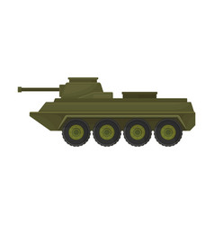 Military armored personnel carrier vector