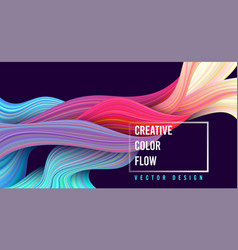 modern colorful flow poster wave liquid shape on vector image