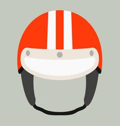 motorcycle helmet flat style vector image