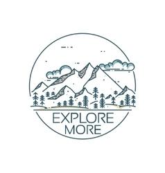 Mountains exploration card vector