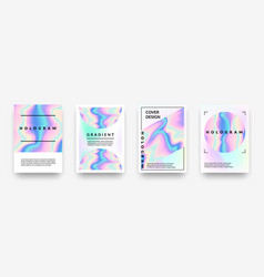 pearlescent posters abstract holographic rainbow vector image