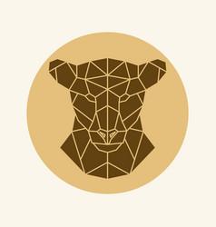 polygonal lioness head vector image