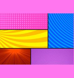 pop art colorful comic concept vector image