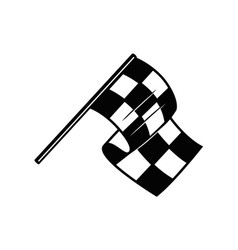 racing flag with chess pattern design element vector image