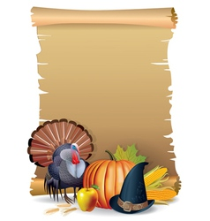 Retro background Thanksgiving turkey vector image
