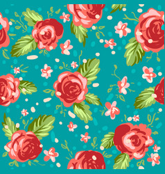 Roses ornament on blue background vector