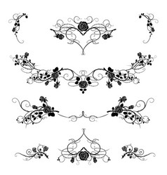 roses tattoo black vector image