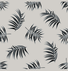 seamless pattern with hand drawn stylized tropical vector image