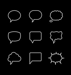 set line icons of speech bubble vector image