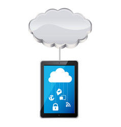smartphone with cloud data services vector image