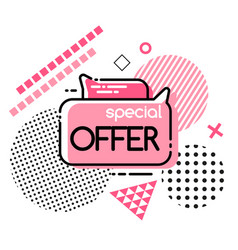 special offer mega discount super promo price vector image