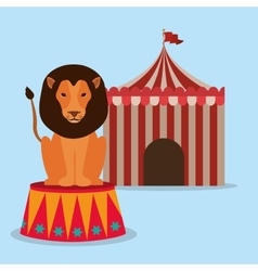 spectacular circus show design vector image
